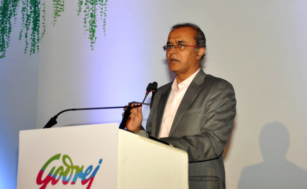 Godrej Appliances Business Head and Executive Vice President Kamal Nandi addresses during the launch of Godrej R32 and R290 air conditioner refrigerants in Kolkata, on March 5, 2019.