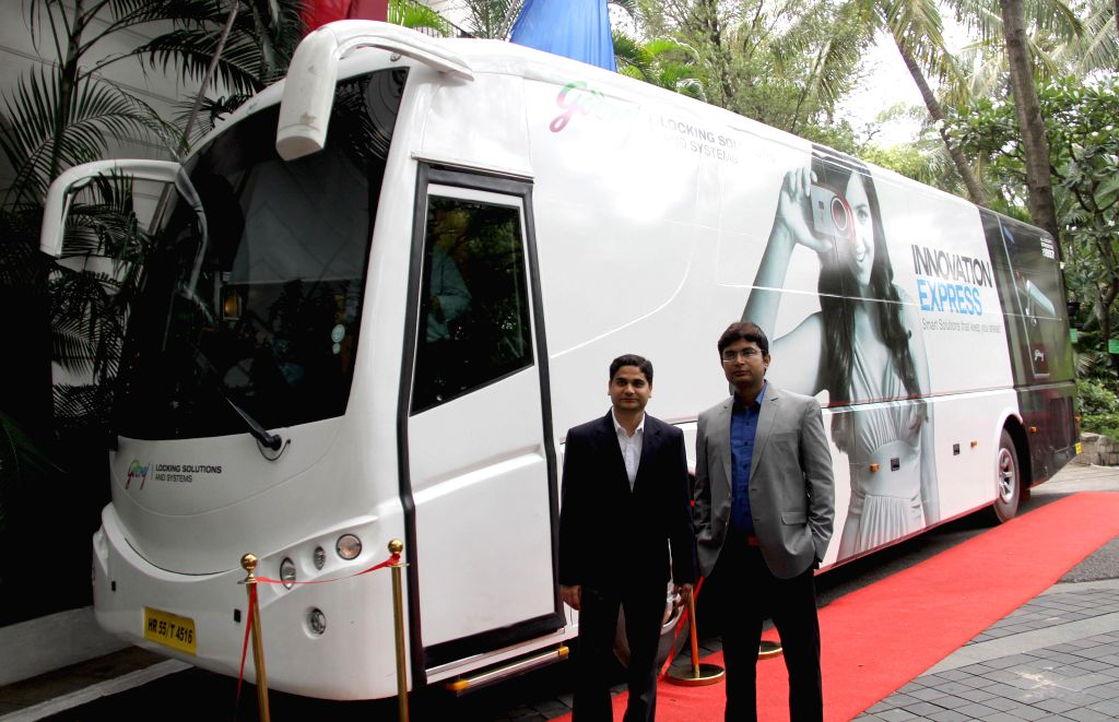 Godrej  launches Innovation Express - a Mobile Experience Centre during press conference in Bangalore on Aug 12, 2014.