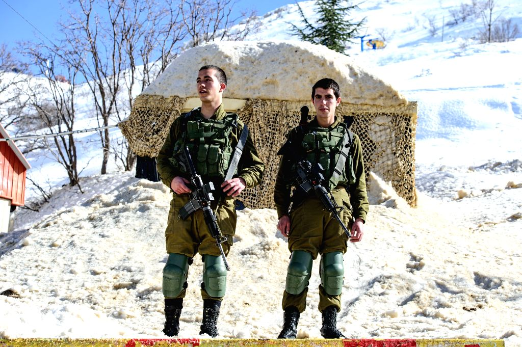 GOLAN HEIGHTS, Jan. 21, 2019 - Israeli army soldiers from the Israeli Military Alpine Unit are seen in the Mount Hermon ski resort, in the Israeli occupied Golan Heights, on Jan. 21, 2019. Israel's ...