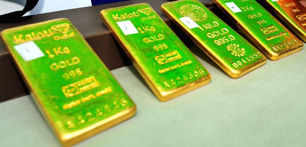 Gold bullions. (File Photos: Xinhua/Rachen Sageamsak/IANS)