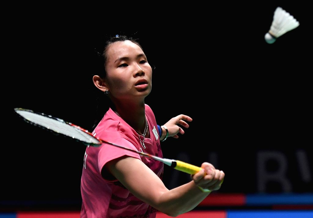 GOLD COAST, May 22, 2017 - Tai Tzu Ying of Chinese Taipei competes during the women's singles match of Group 1-Group 1B against Evgeniya Kosetskaya of Russia at TOTAL BWF Sudirman Cup 2017 in Gold ...