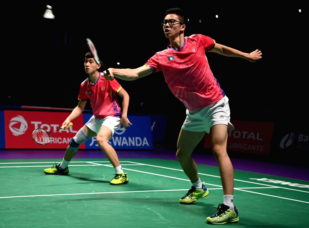 GOLD COAST, May 23, 2017 - Che Pui Ngai(R)/Lam Hou Him of China's Macao compete during the men's doubles match of Group 3-Group 3A against New Caledonia's Ronan Ho-Yagues/Morgan Paitio at TOTAL BWF ...