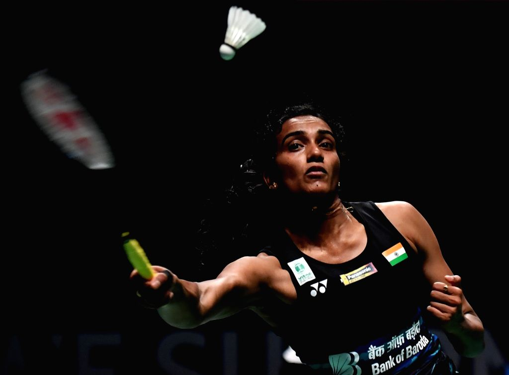 GOLD COAST, May 23, 2017 - Pusarla V. Sindhu of India competes during the women's singles match of Group 1-Group 1D against Fitriani Fitriani of Indonesia at TOTAL BWF Sudirman Cup 2017 in Gold ...