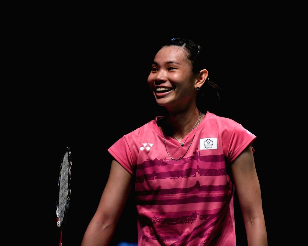 GOLD COAST, May 25, 2017 - Tai Tzu Ying of Chinese Taipei reacts during the women's singles match of Group 1 against Sung Ji Hyun of South Korea at TOTAL BWF Sudirman Cup 2017 in Gold Coast, ...