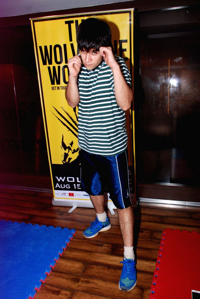 Gold Gym introduces Wolverine workout with Happy New Year star Vivaan, in Mumbai, on August 12, 2014.