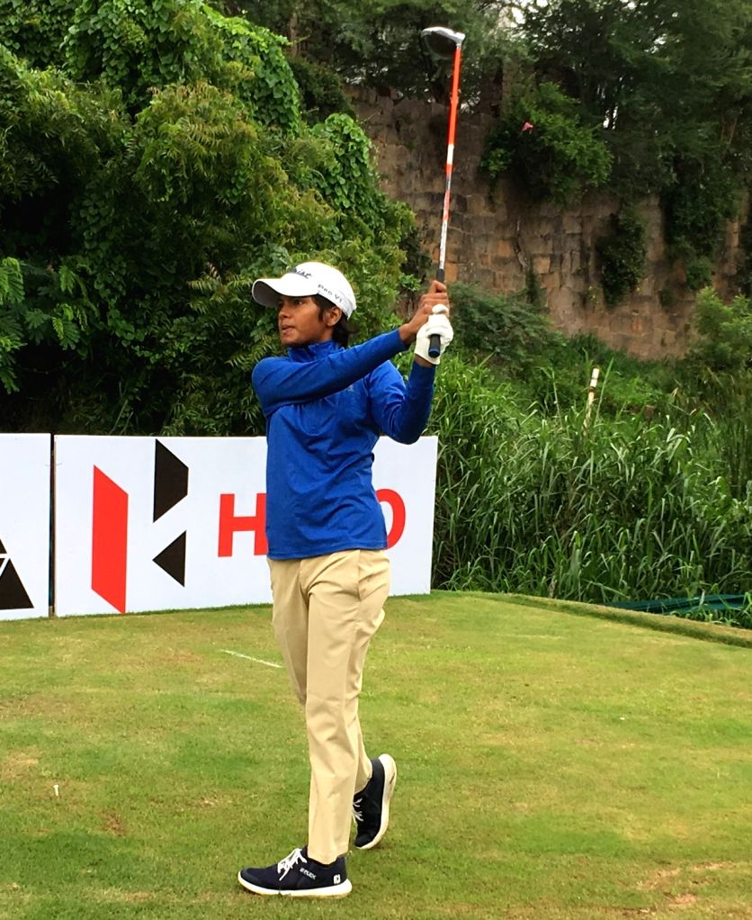 Golfer Sneha Singh in action on the final day of the 11th Leg of the Hero Women???s Pro Golf Tour at Hyderabad Golf Club. - Sneha Singh