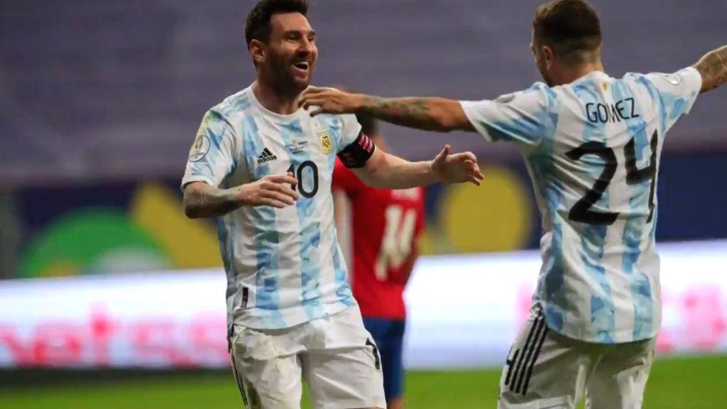 Gomez sends Argentina into Copa America quarterfinals.