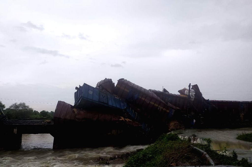 Good train derails in Odisha; 12 trains cancelled.