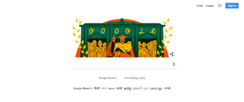 "Google on Tuesday celebrated the 246th birth anniversary of renowned social reformer Raja Ram Mohan Roy recognised as the ""Father of the Indian Renaissance"", who paved the way for a modern ... - Ram Mohan Roy"