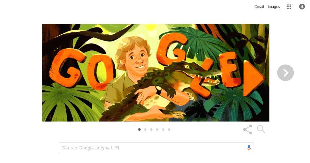 Google remembers 'Crocodile Hunter' Steve Irwin on his birthday with Google Doodle.
