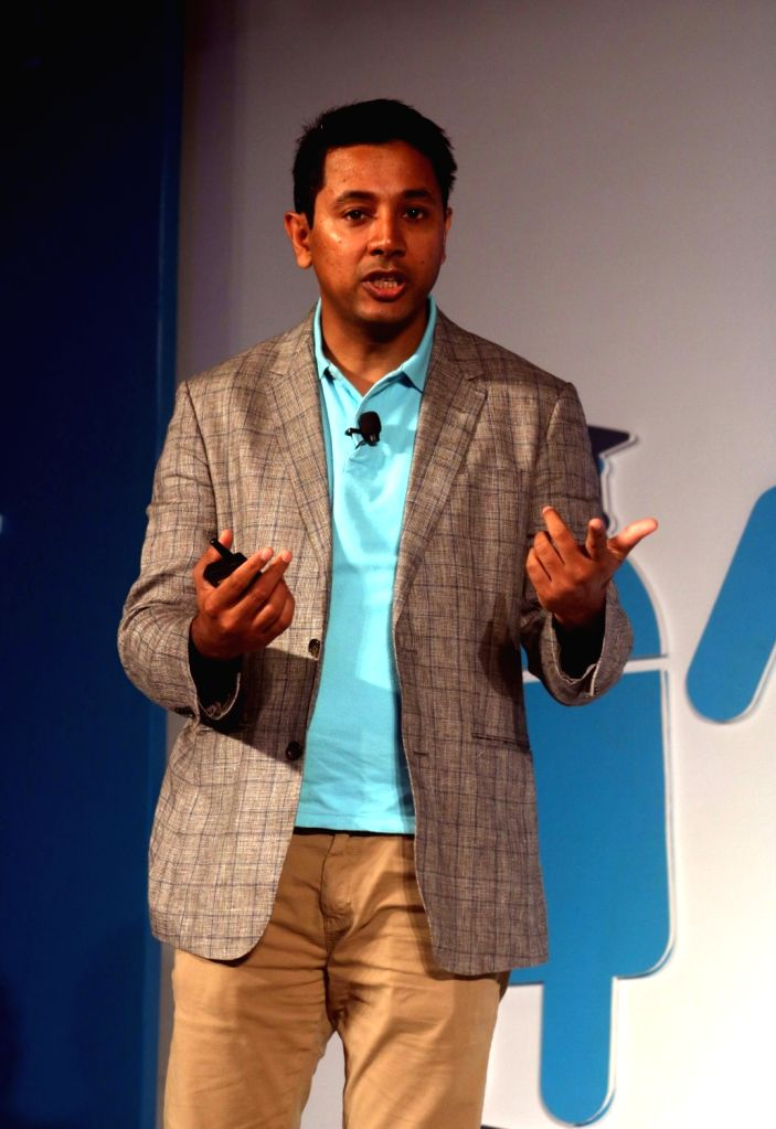 Google Vice President Caesar Sengupta at the launch of Android Skilling Program in India in New Delhi, on July 11, 2016.