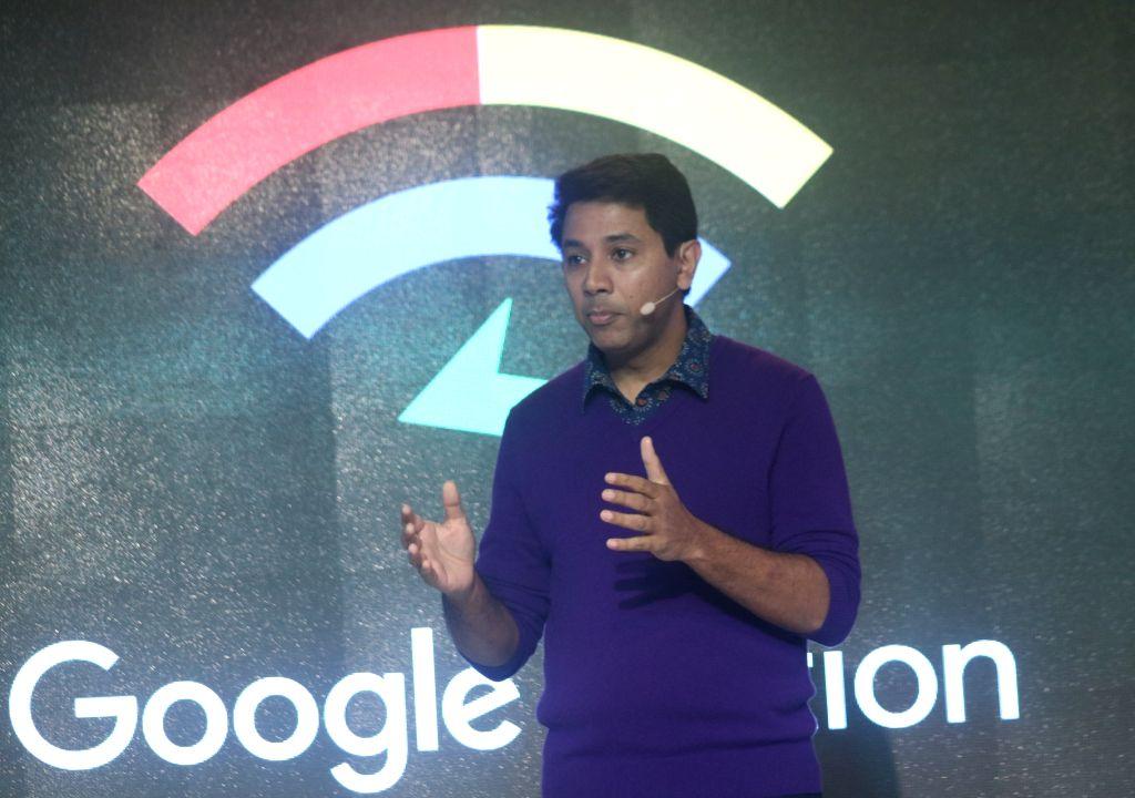 Google Vice President (Next Billion Users Team) Caesar Sengupta addresses during the third edition of Google for India in New Delhi, on Dec 5, 2017.