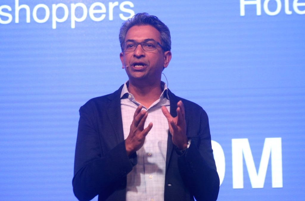 "Google Vice President South East Asia and India Rajan Anandan addresses during the launch of Google's Unified Payments Interface (UPI)-based digital payment service called ""Tez"" ..."