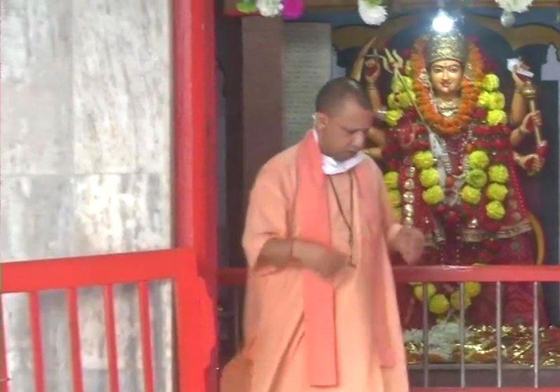 Gorakhpur, Oct 25 (IANS) Uttar Pradesh Chief Minister Yogi Adityanath on Sunday performed the 'Kanya Pujan' ceremony in the Gorakhnath temple on Sunday. - Yogi Adityanath