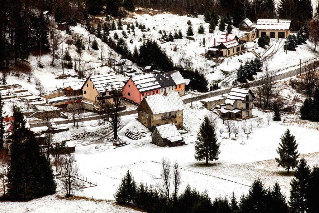 GORSKI KOTAR (CROATIA), Dec. 13, 2019 Photo taken on Dec. 13, 2019 shows the snowy scenery of Gorski Kotar, a mountainous region in Croatia.