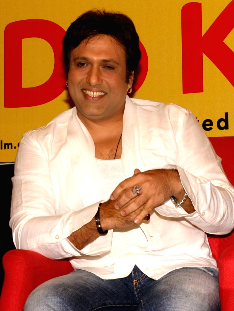 """Govinda at a press meet for the film """"Do Knot Disturb"""" in New Delhi on Tuesday 15 Sep 09."""