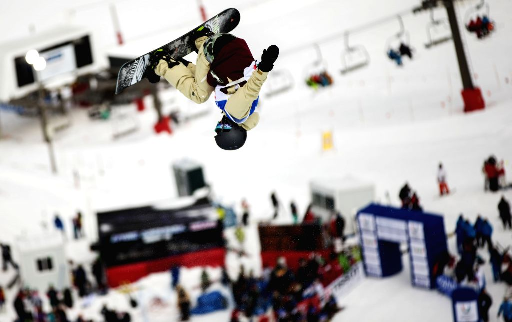 Ayumu Nedefuji of Japan competes during the men's halfpipe finals at the 27th World Winter Universiade in Granada, Spain, Feb. 7, 2015. Nedefuji claimed the title ..