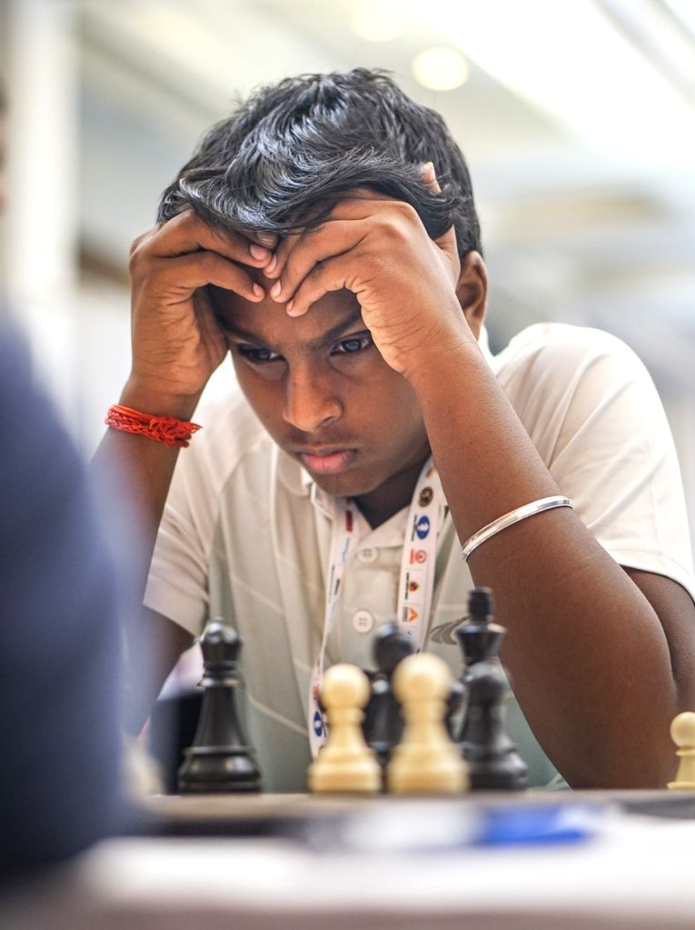 Grandmaster R Abinandhan during World Youth Chess Championship 2019 in Mumbai on Oct 9, 2019.