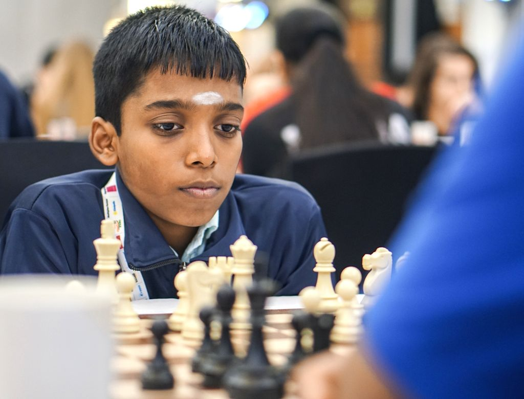 Grandmaster R Praggnanandhaa during World Youth Chess Championship 2019 in Mumbai on Oct 9, 2019.