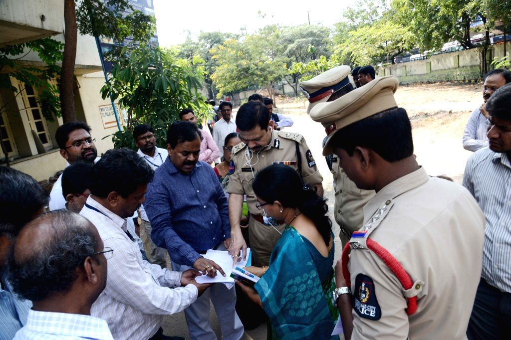 Greater Hyderabad Municipal Corporation (GHMC) Commissioner Dana Kishore inspects polling stations ahead of Telangana Assembly polls in Hyderabad on Nov 5, 2018.
