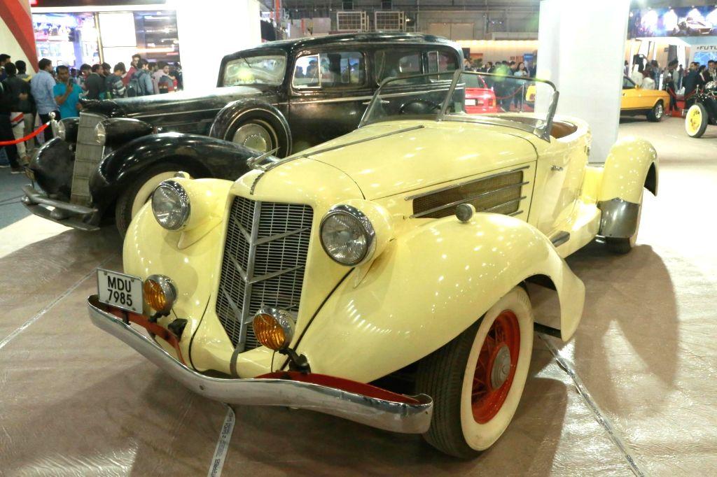 Greater Noida: A vintage car at the Auto Expo 2018 in Greater Noida, Uttar Pradesh on Feb 9, 2018.
