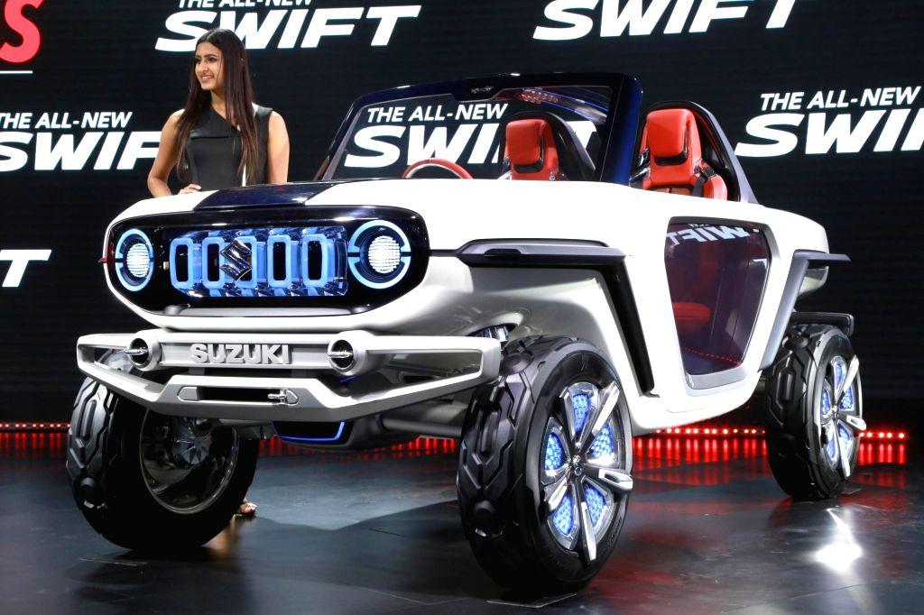 Greater Noida: Maruti Suzuki's Concept Future S at the Auto Expo 2018 in Greater Noida, Uttar Pradesh on Feb 9, 2018.