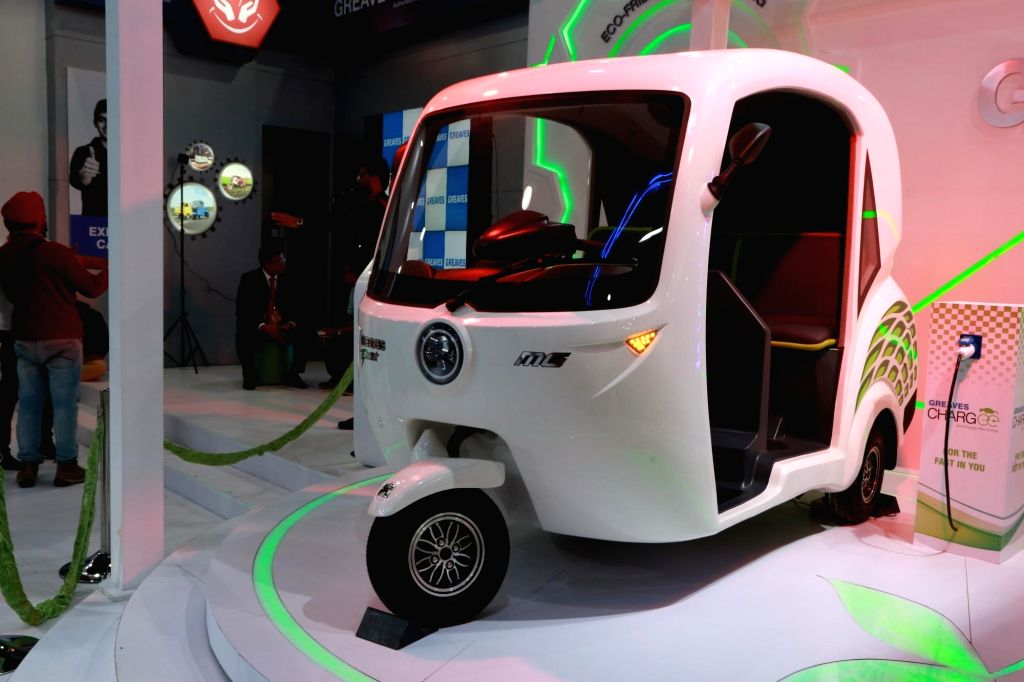 Greaves' Cotton at the Auto Expo 2018 in New Delhi on Feb 8, 2018.