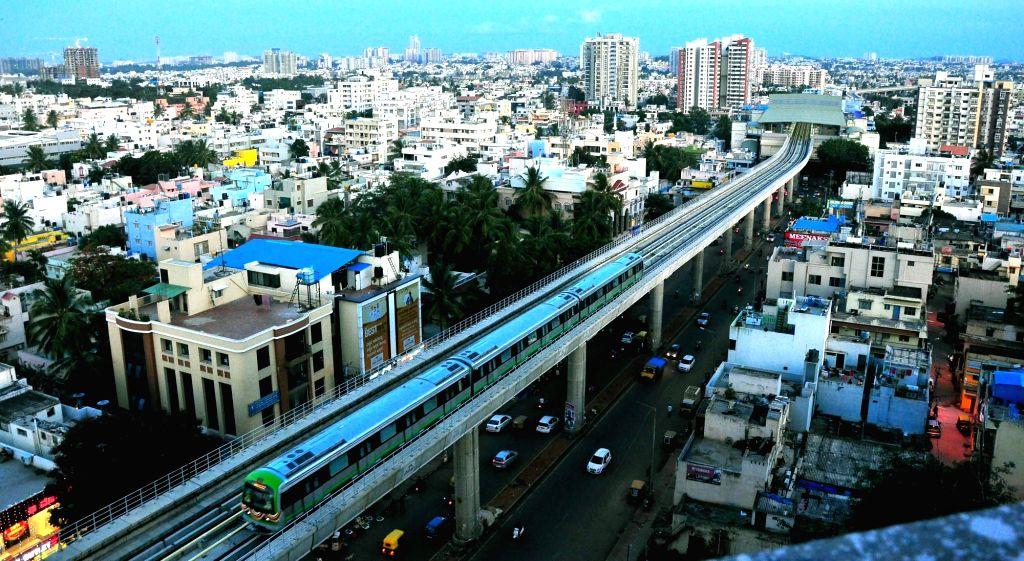 Green Line of Bengaluru's Namma Metro train service. (File Photo: IANS)