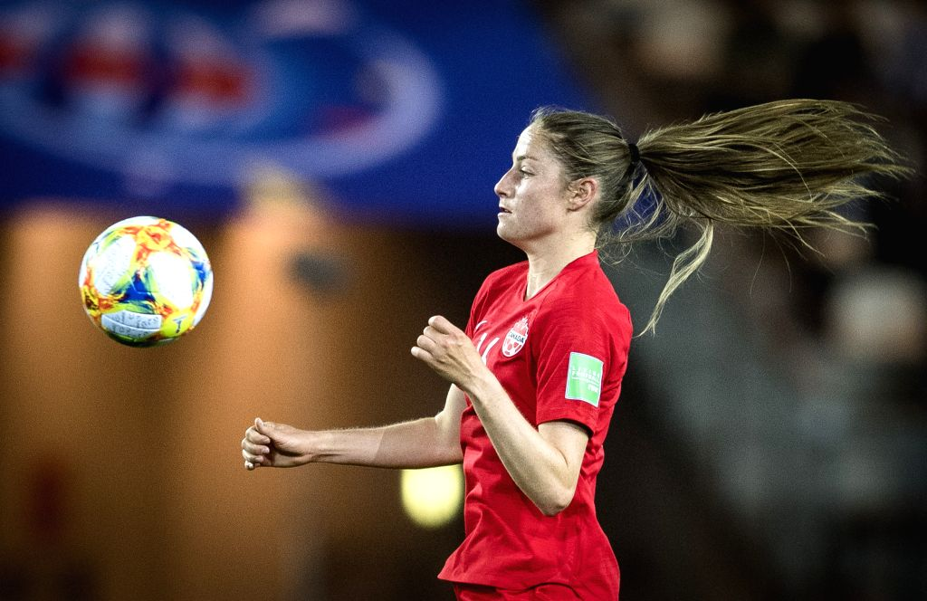 GRENOBLE, June 16, 2019 - Janine Beckie of Canada competes during the group E match between Canada and New Zealand at the 2019 FIFA Women's World Cup in Grenoble, France on June 15, 2019. Canada won ...
