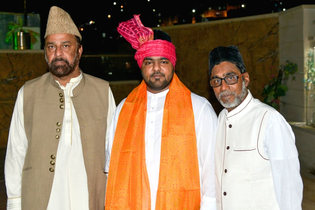 Groom Zoaib Niazi, who is getting married to Syeda Saima Niazi of Pakistan's Hyderabad on 20th June 2019, during his pre-wedding rituals in Ajmer, on June 13, 2019.
