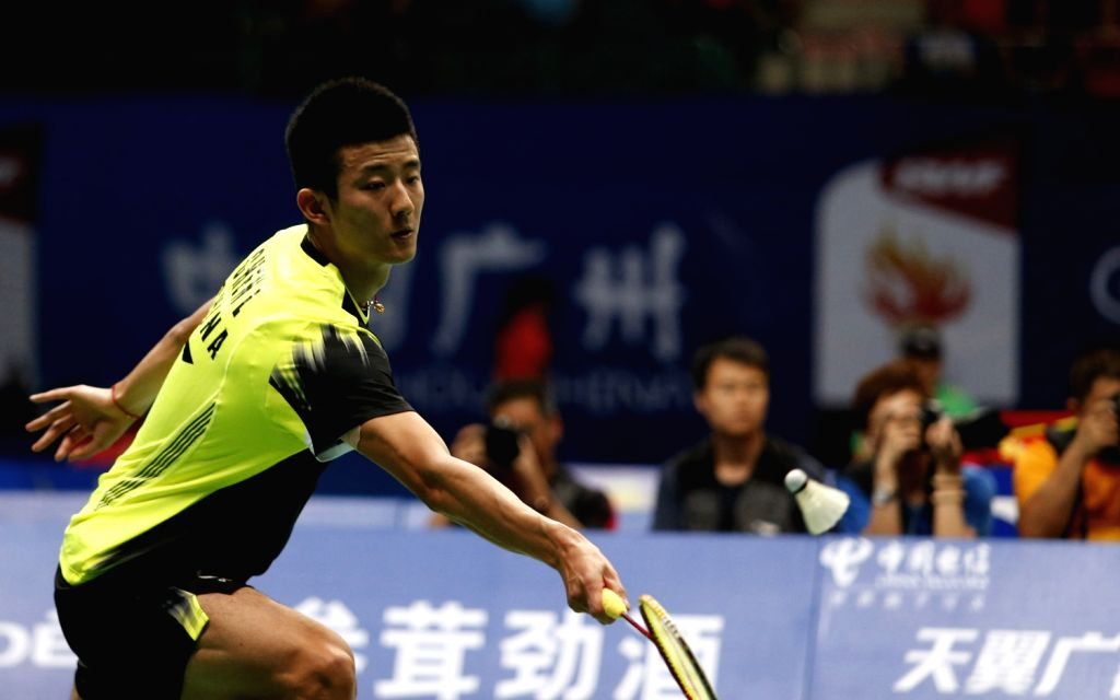 Chen Long of China competes during men's single match against Lin Dan of China at the 2013 BWF World Championships in Guangzhou, capital of south China's