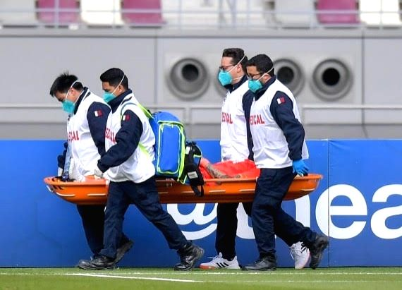 Guangzhou Evergrande defender Zhang Linpeng facing injury lay-off. (Image courtesy: Xinhua news agency)