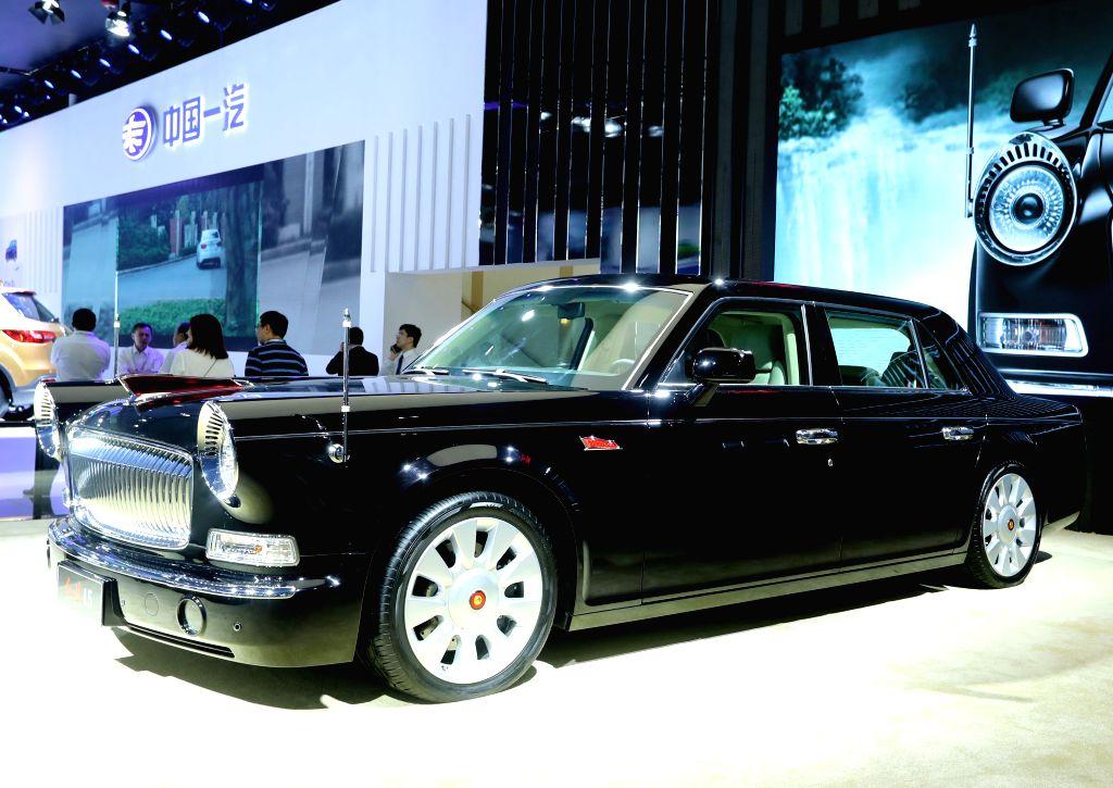 GUANGZHOU, Nov. 18, 2016 - A Hongqi limousine produced by China's FAW Group is seen during the China (Guangzhou) International Automobile Exhibition in Guangzhou, capital of south China's Guangdong ...