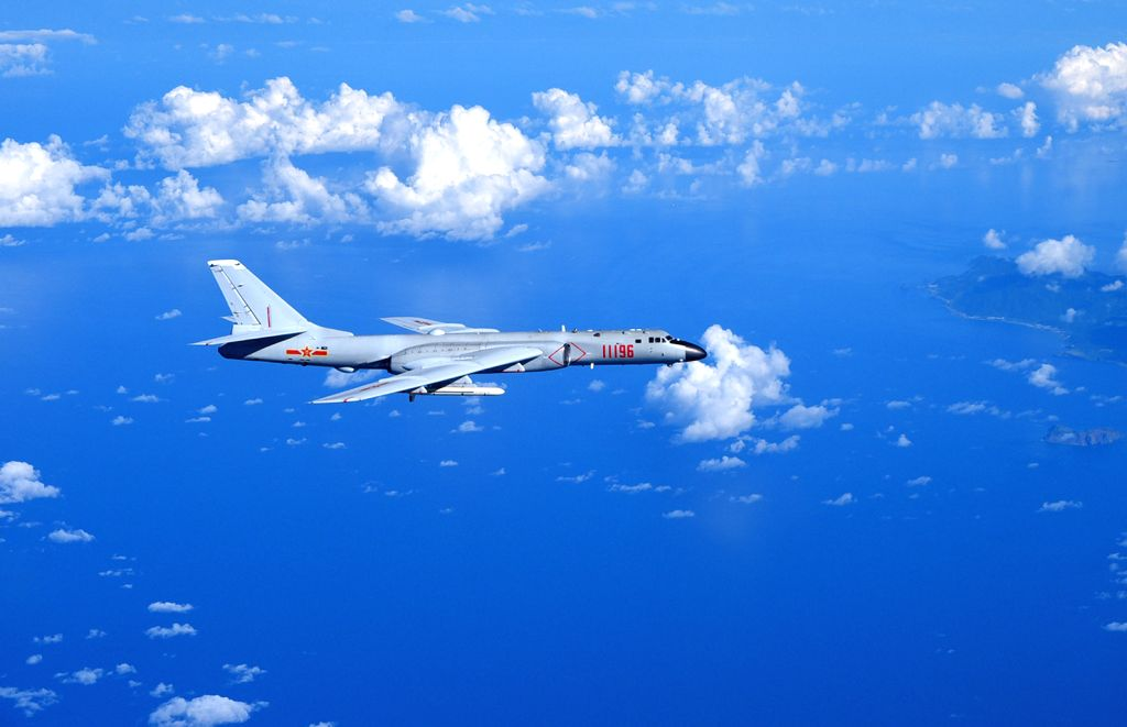 GUANGZHOU, Sept. 13, 2016 - A Chinese Air Force H-6K bomber flies to the West Pacific, via the Bashi Strait, for a routine combat simulation drill, Sept. 12, 2016. The Chinese Air Force on Monday ...