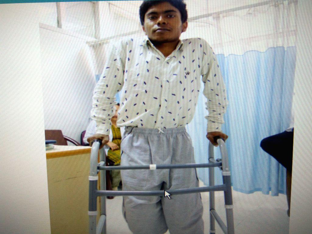 Guddu after surgery at AIIMS.
