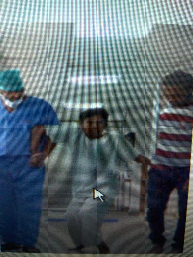 Guddu before surgery at AIIMS.
