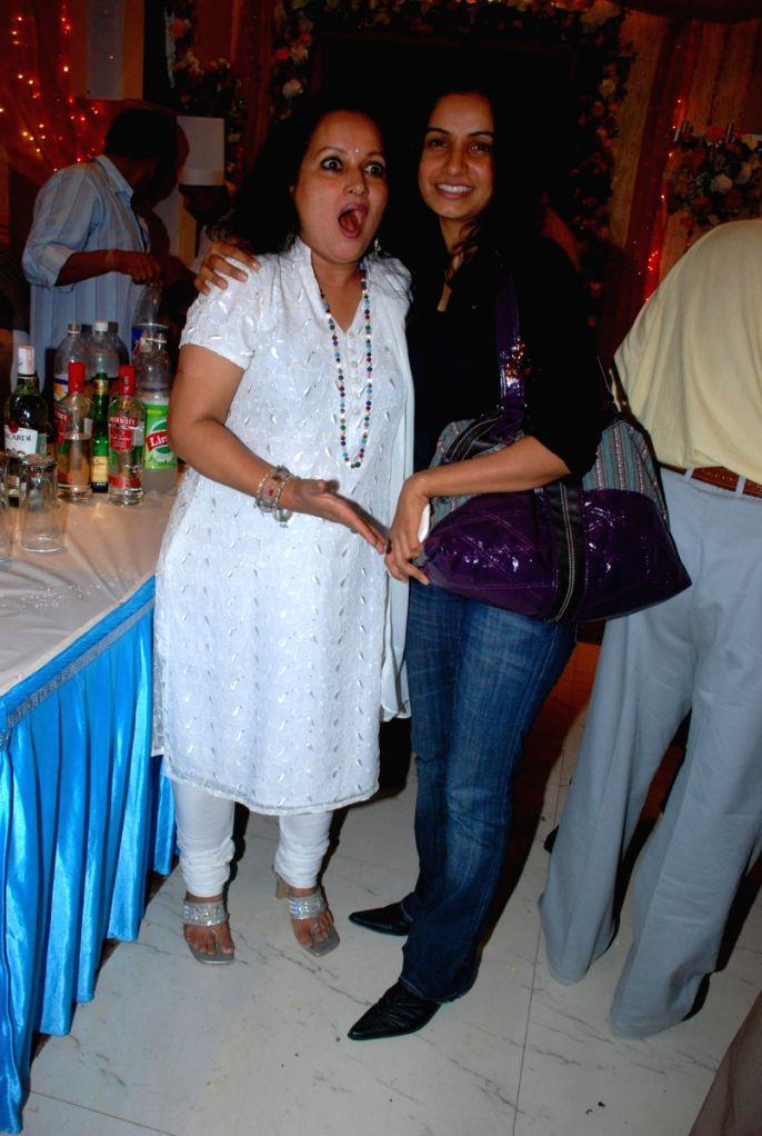 Guest at Ajay Sinha's birthday bash at Future Studio, in Mumbai.