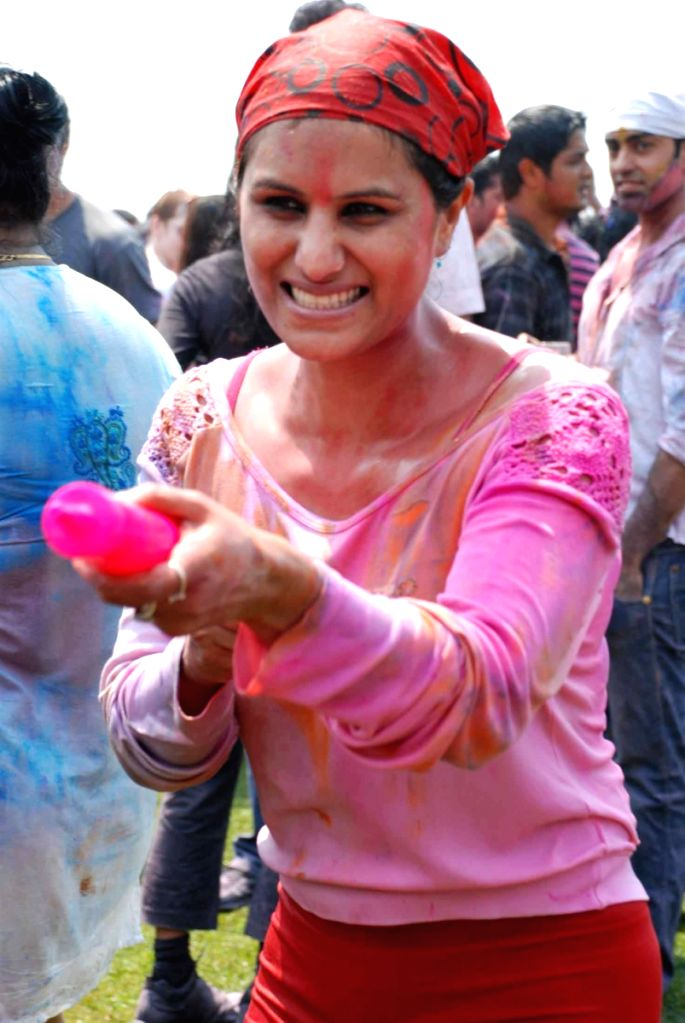 Guest at Zoom Holi Bash.