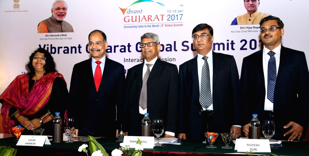 Gujarat Minister of State for Industries and Mines Rohit Patel at the Vibrant Gujarat Global Summit 2017: Bengaluru Roadshow in Bengaluru, on Nov 25, 2016. - Rohit Patel