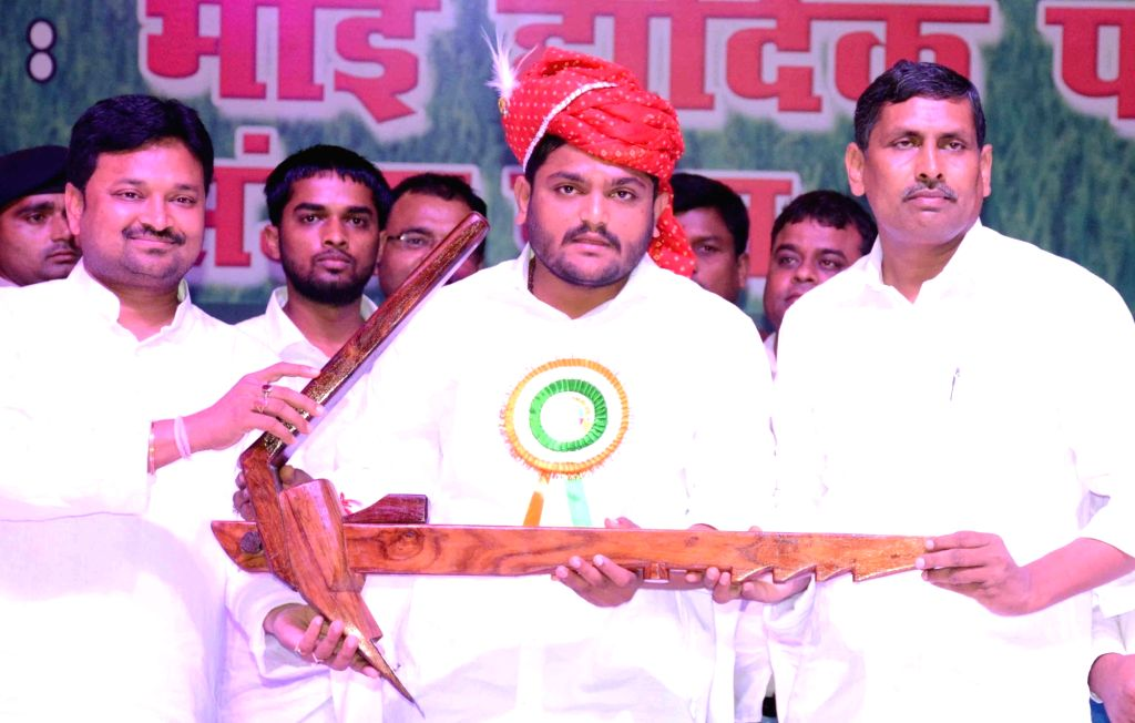 "Gujarat Patidar leader Hardik Patel during ""Patel Jagrukta Sammelan"", in Patna on June 30, 2018. - Hardik Patel"