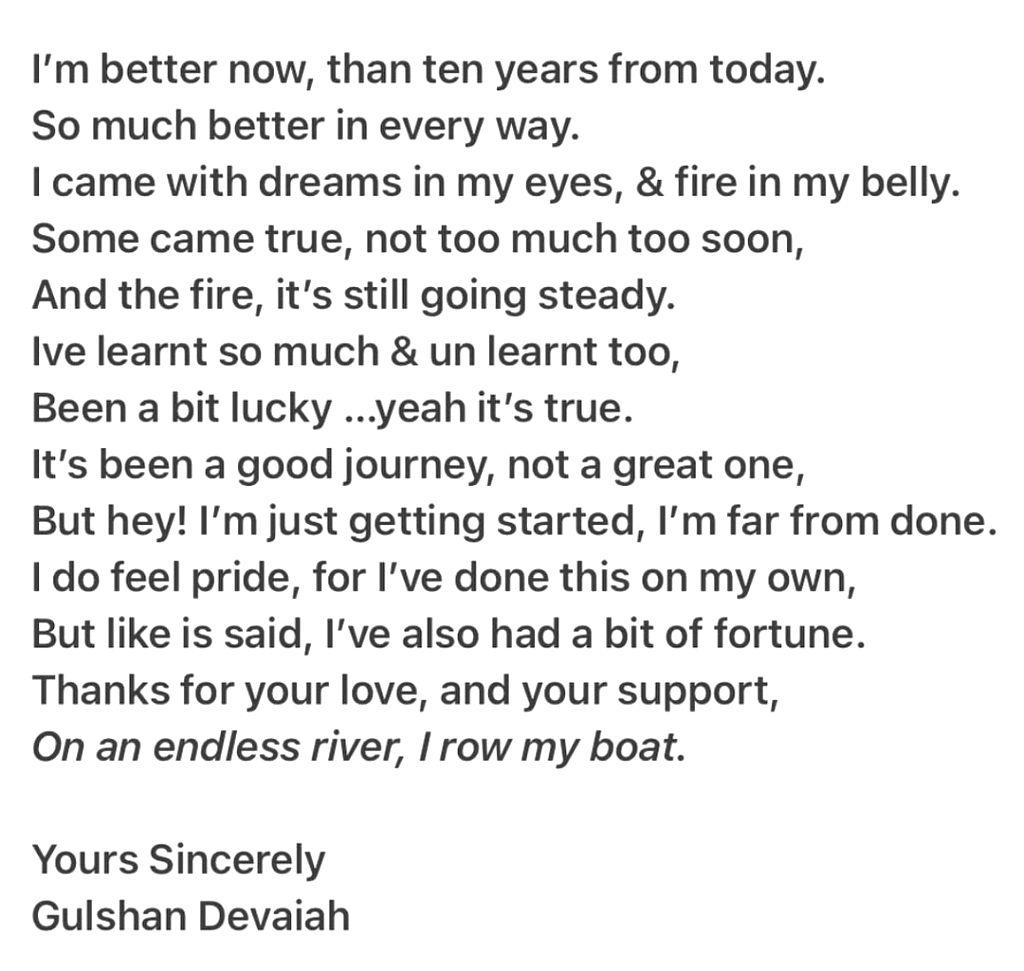 Gulshan Devaiah pens poem to mark 10 years in Bollywood