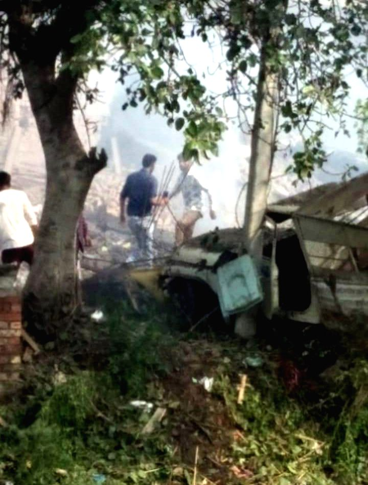 Gurdaspur: At least 16 people were killed and many injured in a blast at an unauthorized firecracker factory in a residential in Batala town of Punjab's Gurdaspur district on Sep 4, 2019. Rescue workers were on the job to retrieve the bodies from the
