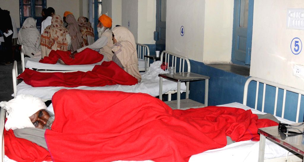 People who lost their vision after undergoing eye surgery at an eye camp organised by an NGO in Gurdaspur district of Punjab  on Dec 5, 2014. At least 15 people lost their vission after ...