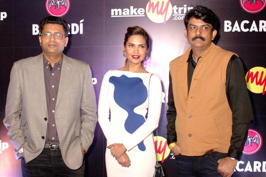 Actress Esha Gupta during BACARDI Goa hangout party at Hard Rock Cafe in Gurgaon, on December 06, 2014. - Esha Gupta