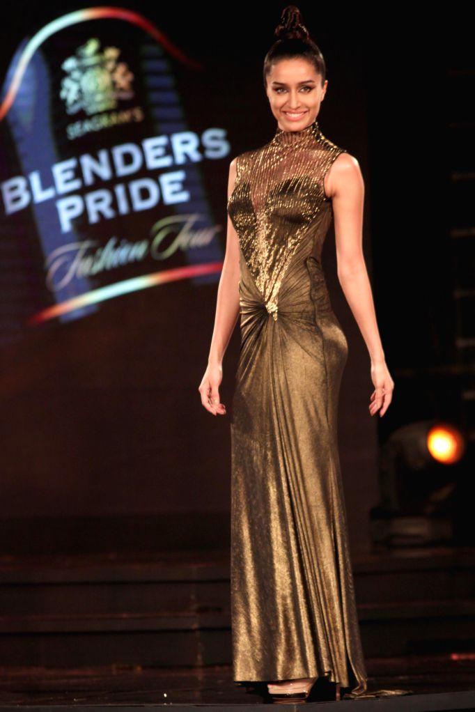 Actress Shraddha Kapoor durig designer Gaurav Gupta show at the Blenders Pride Fashion Tour 2014, in Gurgaon on November 24, 2014. - Shraddha Kapoor
