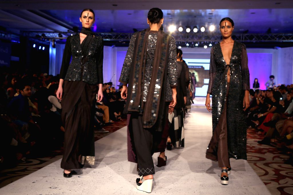 Gurgaon :  Designer  Abraham and  Thakore show at the Blenders Pride Fashion Tour 2015, in Gurgaon, on ,October 18,2015.