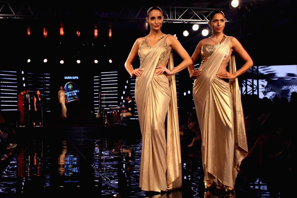 Designer Gaurav Gupta show at the Blenders Pride Fashion Tour 2014 , in Gurgaon on November 24, 2014.
