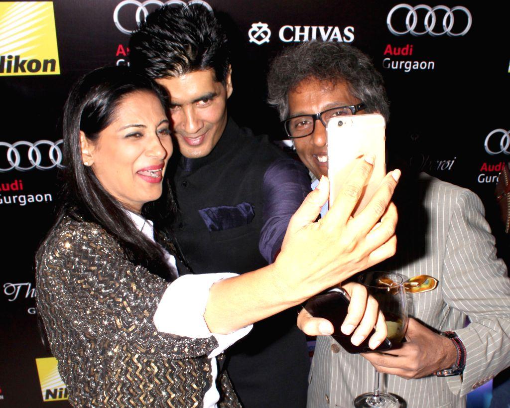 Fashion designer Manish Malhotra during Hindustan Times Delhi`s Most Stylish Awards 2015, held in Gurgaon, on May 2, 2015. - Manish Malhotra