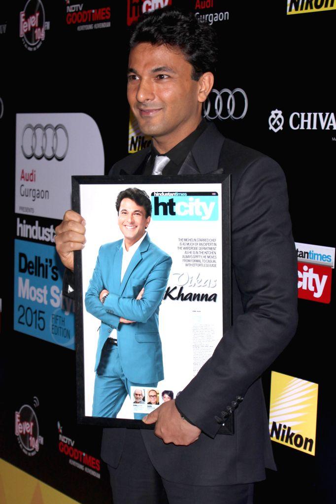 Michelin-starred chef Vikas Khanna during Hindustan Times Delhi`s Most Stylish Awards 2015, held in Gurgaon, on May 2, 2015. - Vikas Khanna