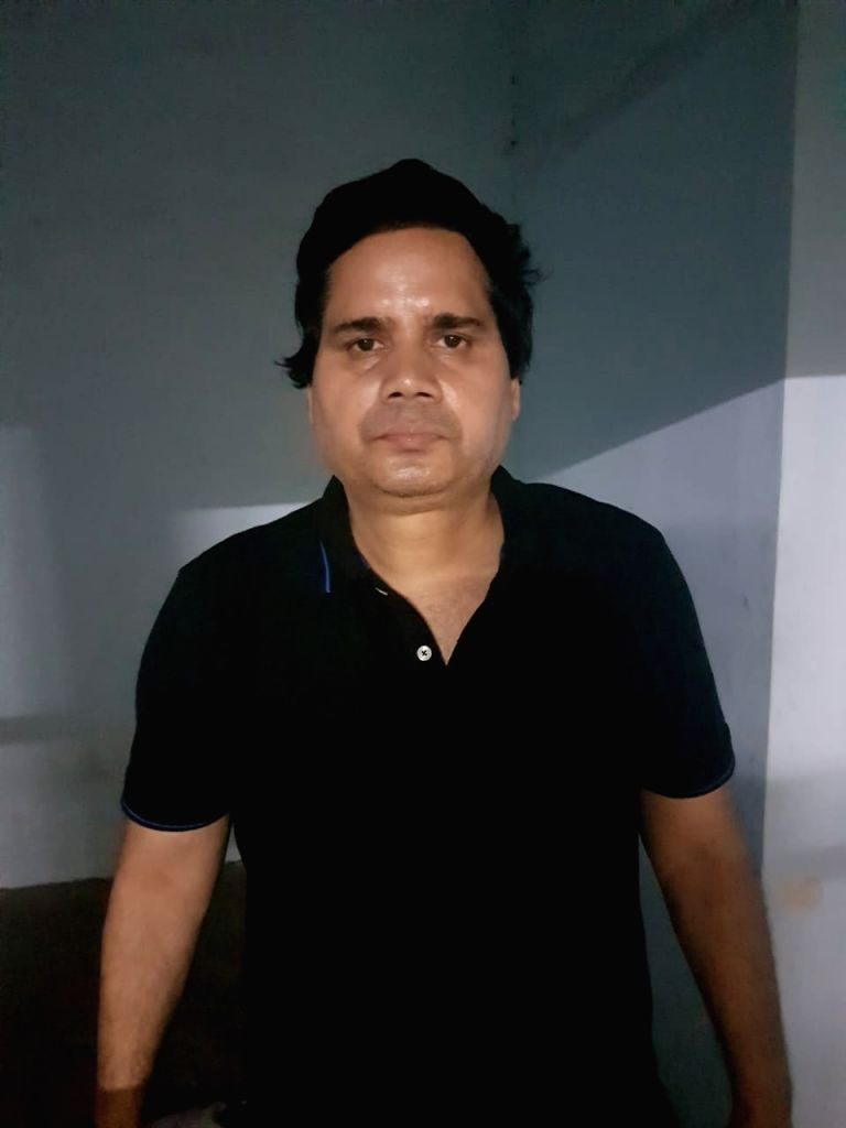Gurugram: A man identified as Rammani Pandey was arrested by the Gurugram Police on allegations of threatening the Chief General of India Bulls for Rs 10 crore. (Photo: IANS) - Rammani Pandey